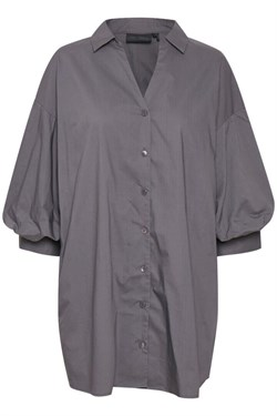Karen By Simonsen Bluse - Chilly Long Shirt, Ebony